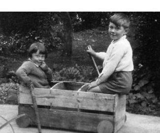 Ian and Erica, an orange box trolley | Ian Hawks