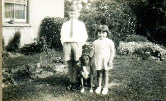 Ian and Erica with the family pet, Bing | Ian Hawks