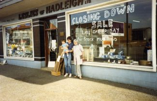 Leslie's of Hadleigh the day it closed