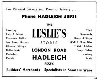 Advertisement 1953 | Chris Worpole