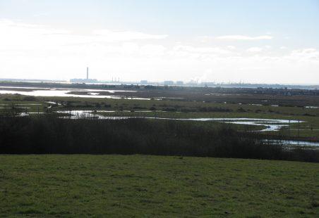 Hadleigh Marshes in flood