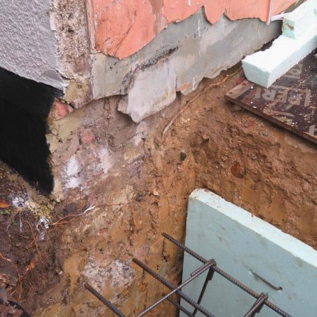 This photo shows the minimal foundations used 150 years ago.   Graham Cook