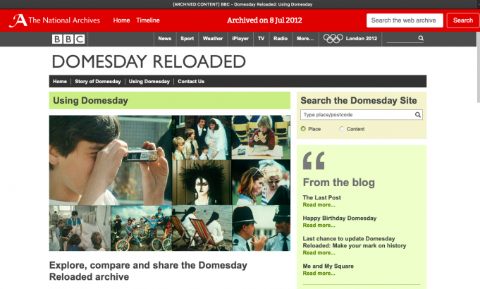 Domesday Reloaded on the National Archives | The National Archives