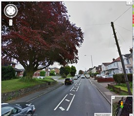 Looking south along the A129 | Google Maps