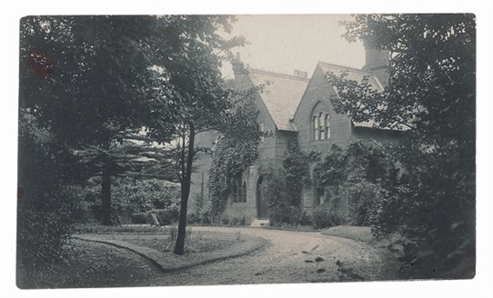 Trees and driveway and old Rectory