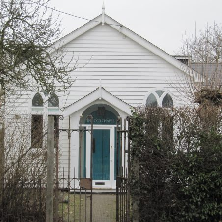 The third Peculiar People's Chapel in Daws Heath Road,now residential. Built 1894.