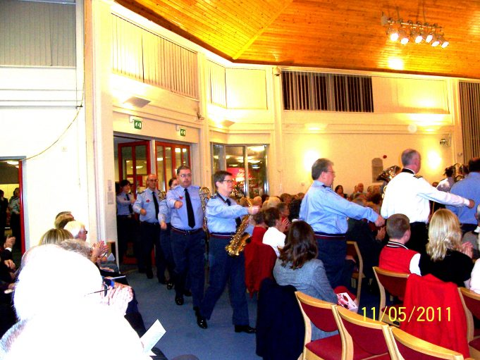 RAF Band marching into the hall. | Ian