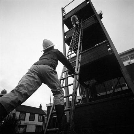 Then it was outside for ladder training | Robert Hallmann