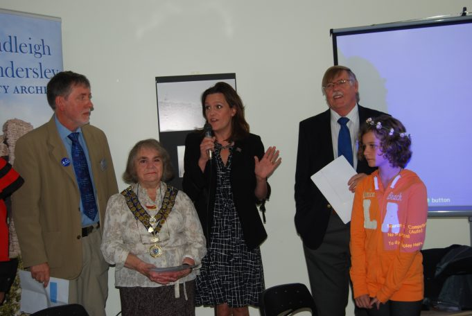 L to R Nick Turner Chairman, Jackie Gover  Councillor & CPBC Mayor, Rebecca Harris MP, Roy Swanston Heritage Lottery Fund. Foreground Hannah Allwright CP Summer show photo competion winner. | Ian