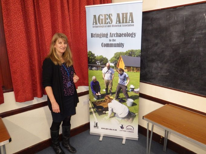 Carenza Lewis Explains the Earlier Daws Heath Finds to Local Residents as Part of AGES AHA BRINGING ARCHAEOLOGY TO THE COMMUNITY | Terry Barclay