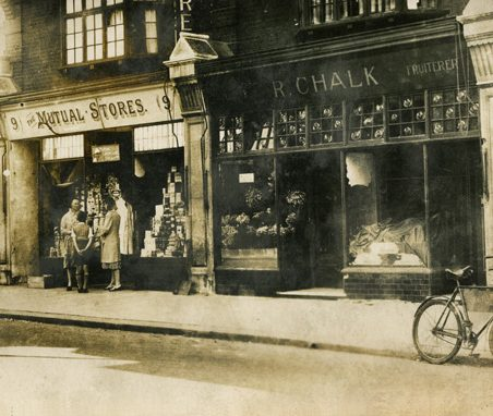 R. Chalk, Fruiterer, 1932, then at 8 Central Parade, Hadleigh. In 1939 'R. Chalk' became 'Chalks'. The premises are still owned by the family. | Gill and Colin Blackall