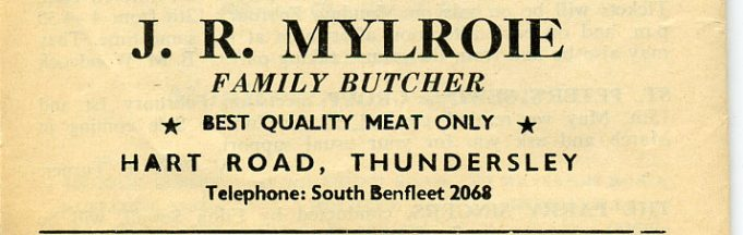 Thundersley local traders' adverts
