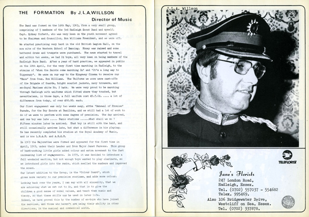 J.L.A. Willson in the 1980 publication | Hadleigh Marching Militaire