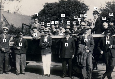 Hadleigh Congregational Church outing in 1929