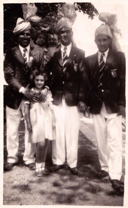 Val meeting the Olympic competitors, July 1948 | E Cope