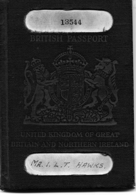 1942 passport for war time  travel to U.S.A | Ian Hawks.