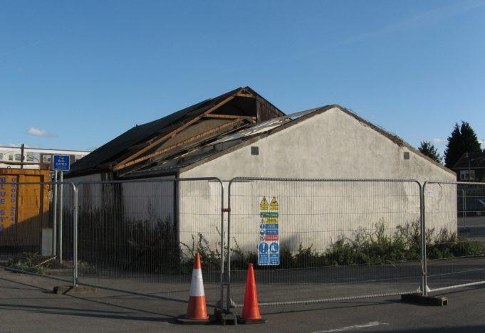 21/09/2011 stage in demolition of the British Legion Hall | M Brown