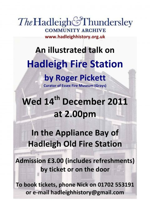 An illustrated talk on Hadleigh Fire Station