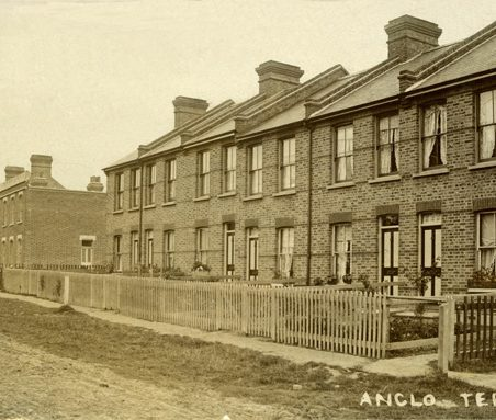 Herbert Angelo and Alice Chalk's sons Herbert John (b.1902), Ben (b.1904) and Henry George (called Harry, b.1905) were born at 'Anglo' Terrace, Beech Road, Hadleigh. The terraces are still there, though they are not easily recognisable.   Gill and Colin Blackall
