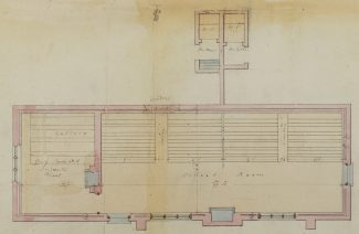 Street's plan for the interior of Hadleigh National School, 1855 | Reproduced by the kind permission of the Essex Record Office