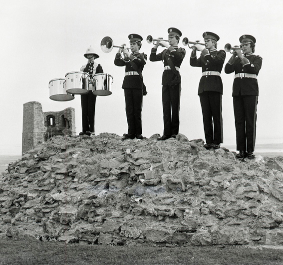 Hadleigh Marching Militaire Fanfare Team   © Robert Hallmann