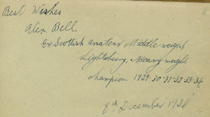 Autograph of Alex Bell | Ian Hawks
