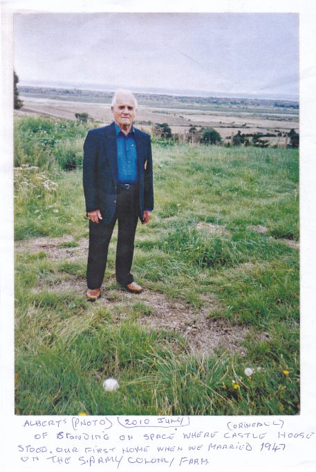 Albert standing on the site of his old home | Heather Overall Collection