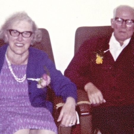 Albert Guy with his wife