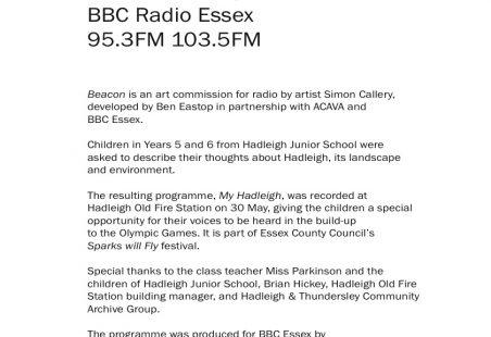 Hadleigh Juniors describe Hadleigh, Essex