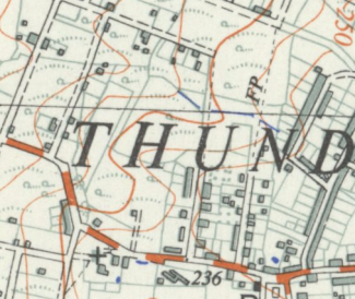 In this 1937-1955 OS Map, Borrowdale Road runs down from the