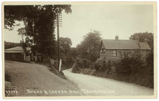 An old postcard view of Bread & Cheese Hill, long before anyone dreamed of a dedicated bus-lane!