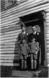 West-facing door, after wedding | Richard Hills family collection