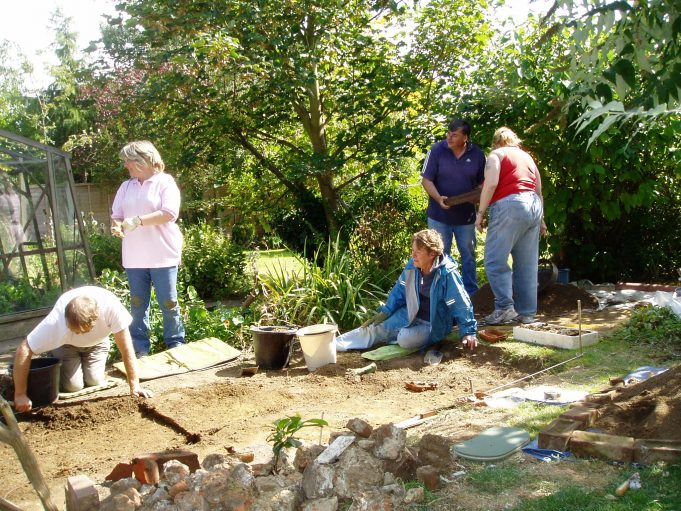 Digging in a member's garden | Terry Barclay