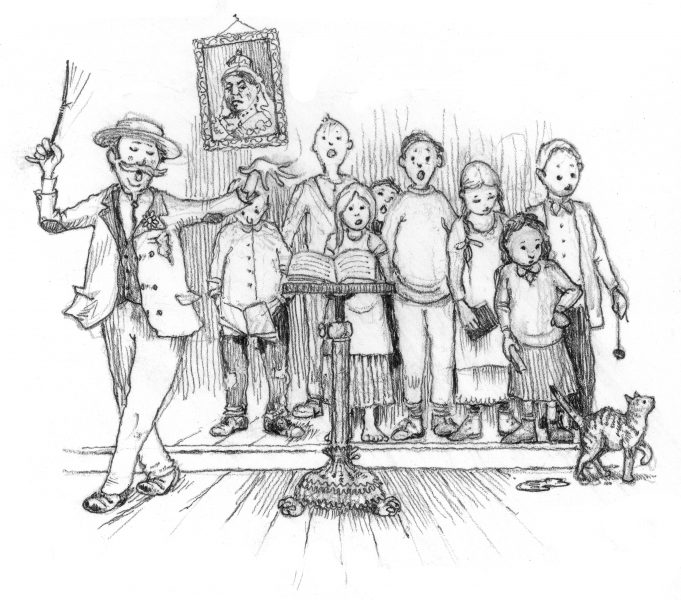 An illustration by David Hurrell - from TALES OUT OF SCHOOL