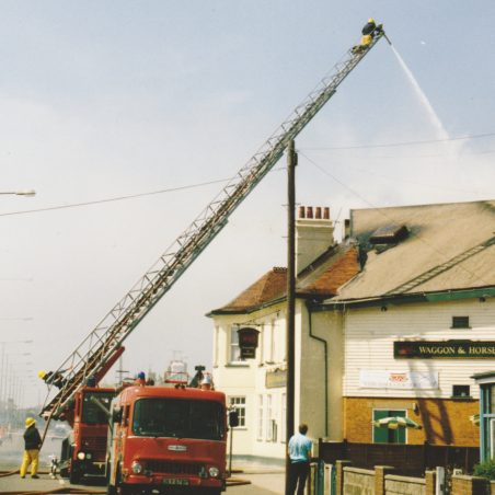 Fire at the Waggon & Horses