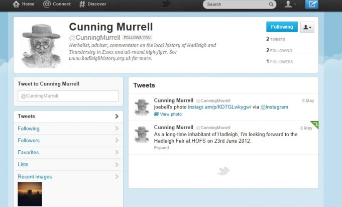 Follow using @CunningMurrell | Image of Cunning Murrell copyright of David Hurrell