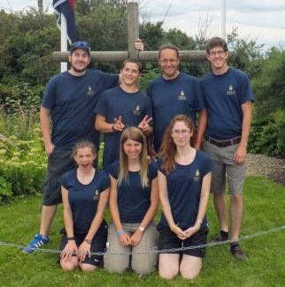 From Switzerland the 'More Than Gold' team at Hadleigh Farm | Brian Nichols