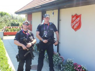 Security was tight at all Olympic Venues, Hadleigh Farm was no exception | Brian Nichols