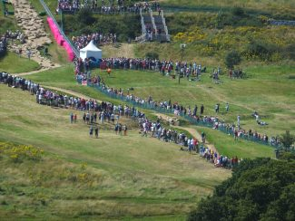 View of the Mountain Bike event as seen from the Tea Rooms | Brian Nichols