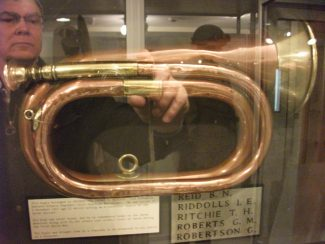 A First World War bugle at Maldon Combined Services Museum