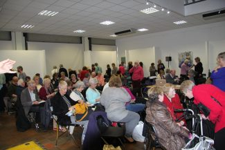 A capacity audience gather at Hadleigh Old Fire Station. | Graham Cook