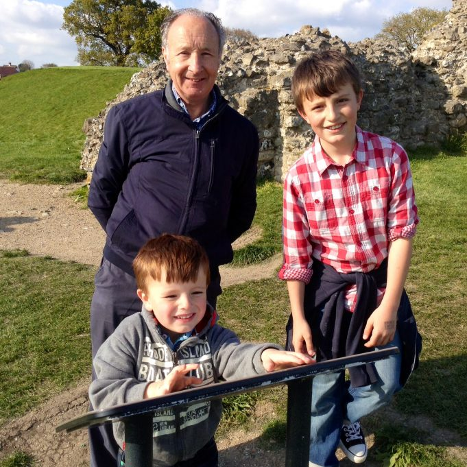Grandad Keith at the Castle | Susan Wells