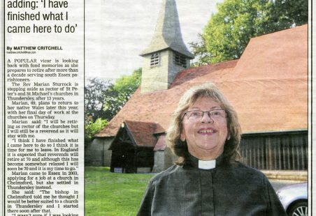 St Peter's and St Michael's, Thundersley, lose their Rector