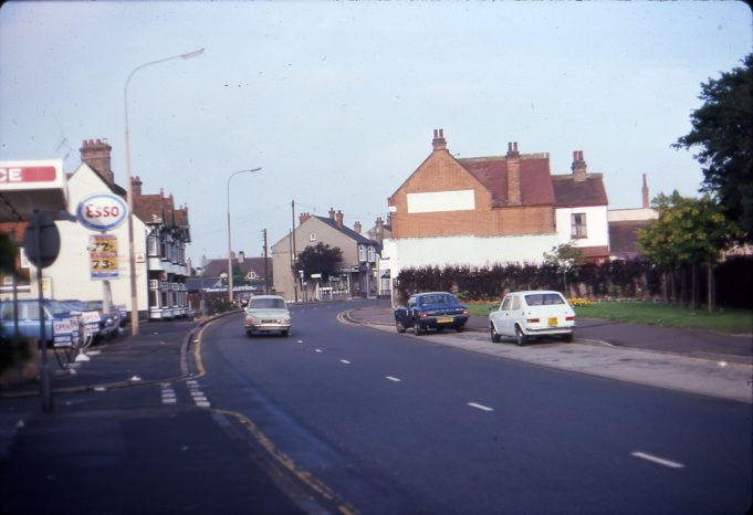 1977 High Street looking west; Esso garage now McDonalds | Ian Hawks