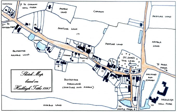Sketch Map based on Hadleigh Tithe 1847 | Chris Worpole