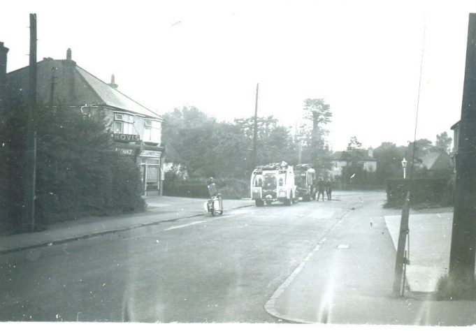 Bakery & cottage fire, 1950's | Ian