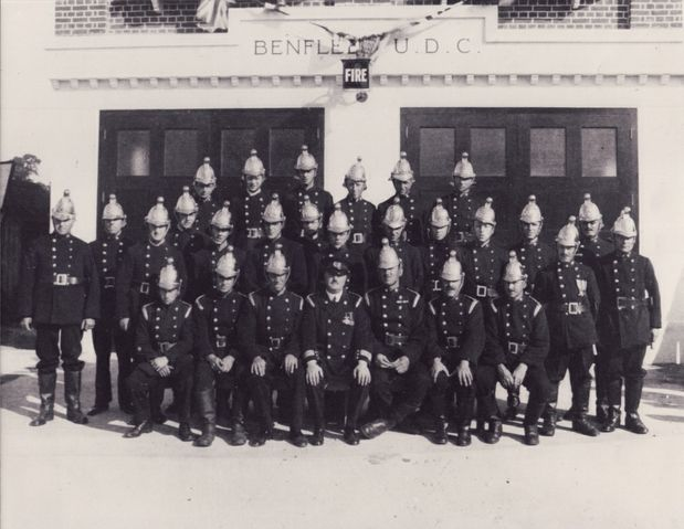 Hadleigh Fire Brigade outside the new fire station in the 1930s | Essex Fire Museum, Grays