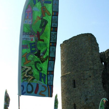Banners flying high at Hadleigh Castle during the Olympics | Graham Cook