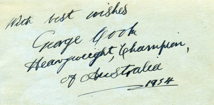 Autograph of George Cook | Ian Hawks