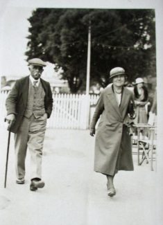 George and Frances Grimes walking